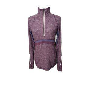Lululemon Full Tilt 1/2 Zip Pullover Heathered Mauve Purple Reflective Size 8